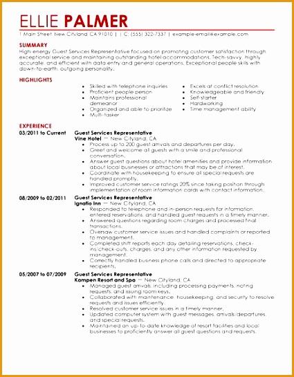 7 free hospitality resume template