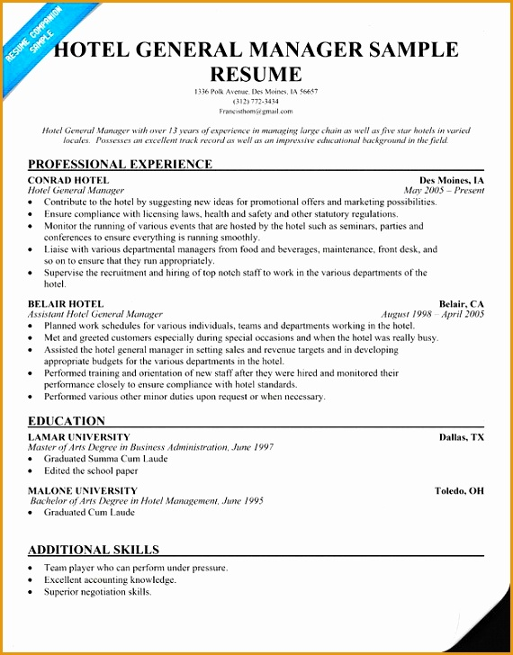 include skills qualifications while praparing for hospitality resume in hospitality industry for position of first level managers - Hospitality Resume Samples