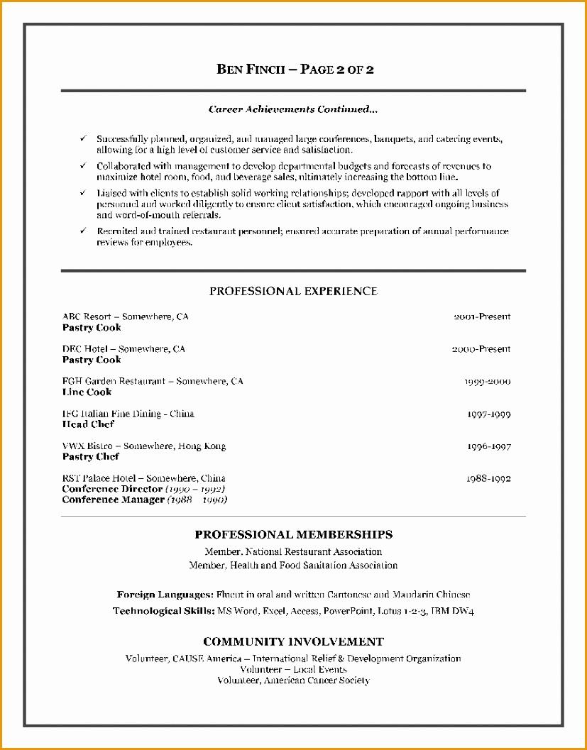 hospitality resume writing example1057827