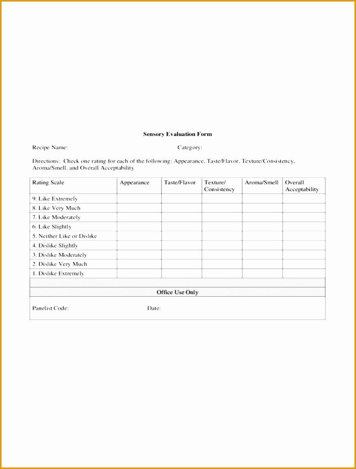 sensory evaluation form931706