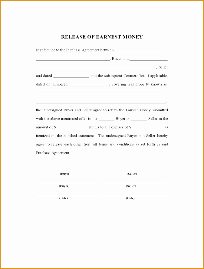 earnest money contract form931706