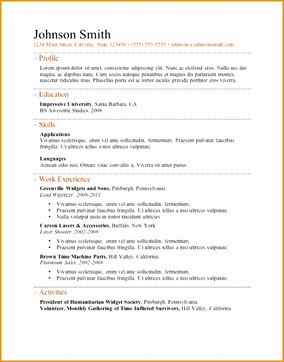 my perfect resume templates718563