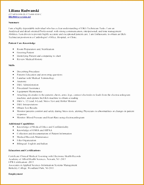 8 Functional Resume Template Sample