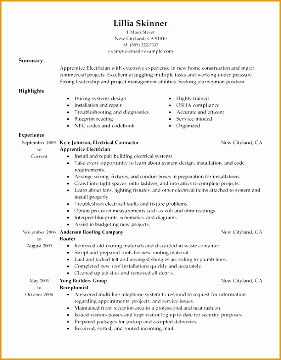 8 functional resume template sample