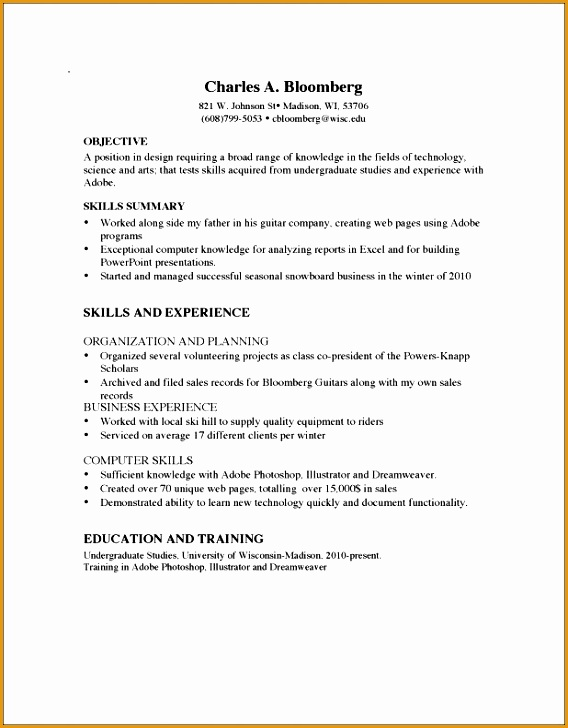 7 Good Nursing Resume No Experience Free Samples
