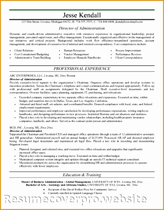 healthcare administration resume675528