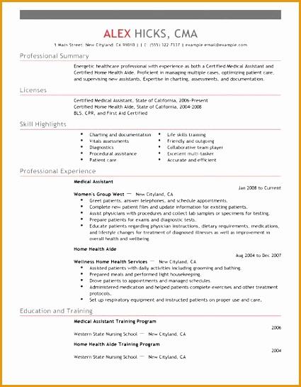 healthcare resume template545425