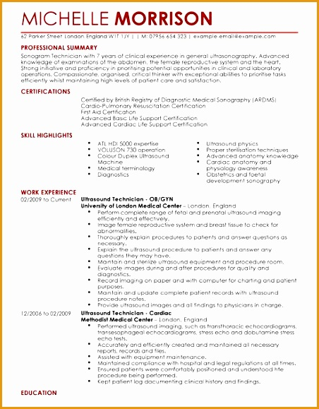 ultrasound technician template579452
