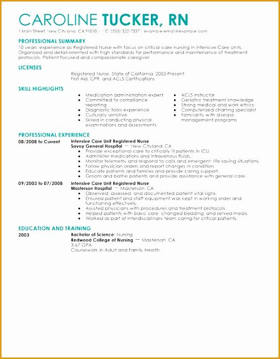 nursing resume sample writing guide728568