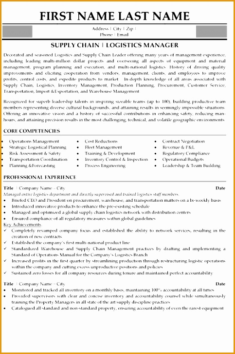supply chain resume samples725483