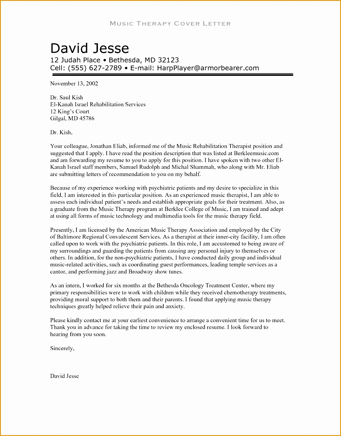 free example experienced respiratory therapy cover letter15011173