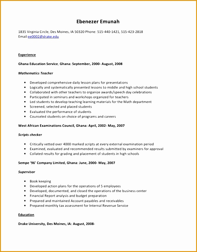 5 Housekeeper Resume Sample