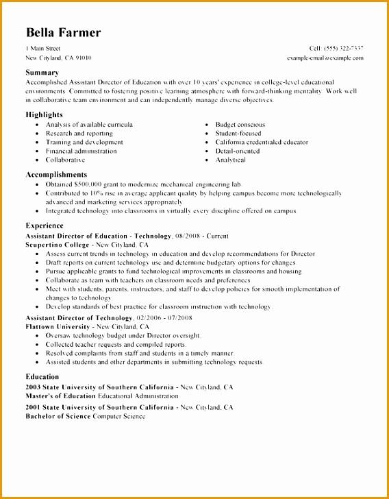assistant director resume sample728568