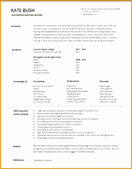 trainee accountant cv sample 584588460