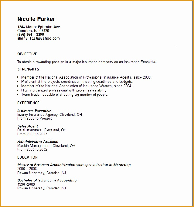 Claims Adjuster Resume No Experience