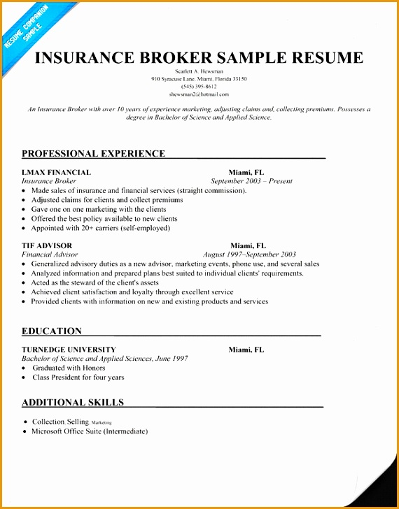 7 Insurance Claims Representative Resume Sample Free
