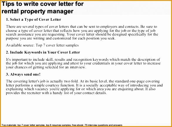 rental property manager cover letter435586
