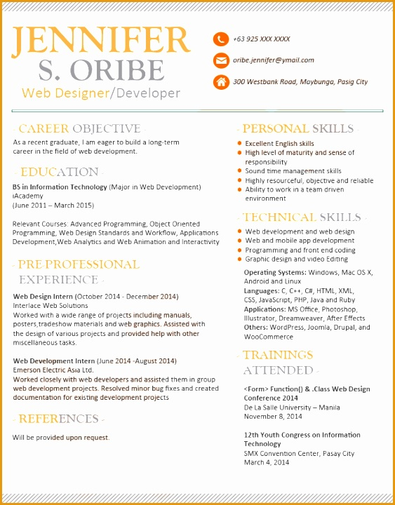 resume templates can720563