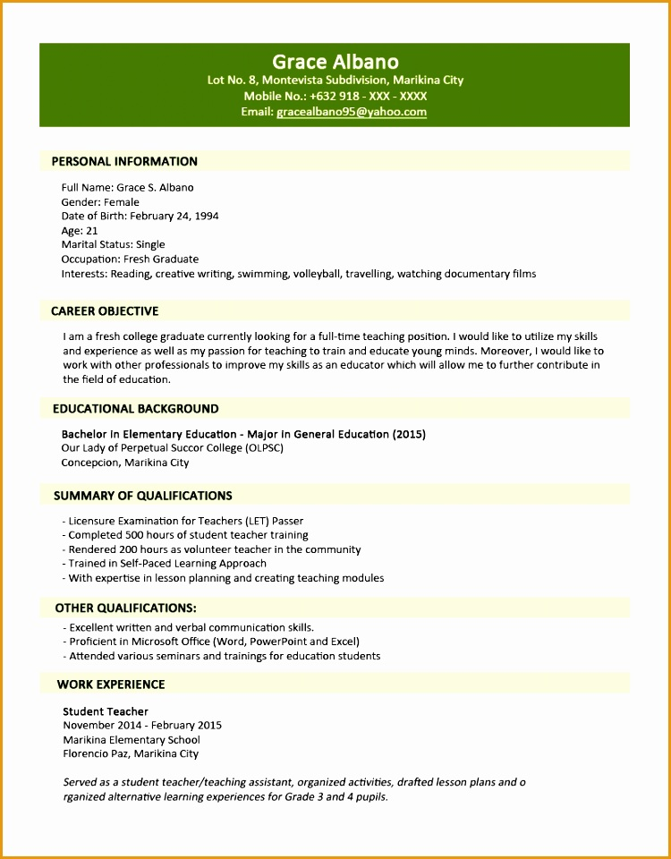 5 jobstreet resume sample