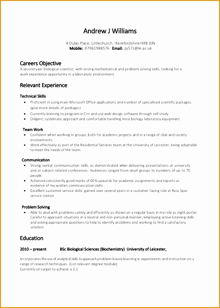 5 Layout Of A Resume Cover Letter Free Samples