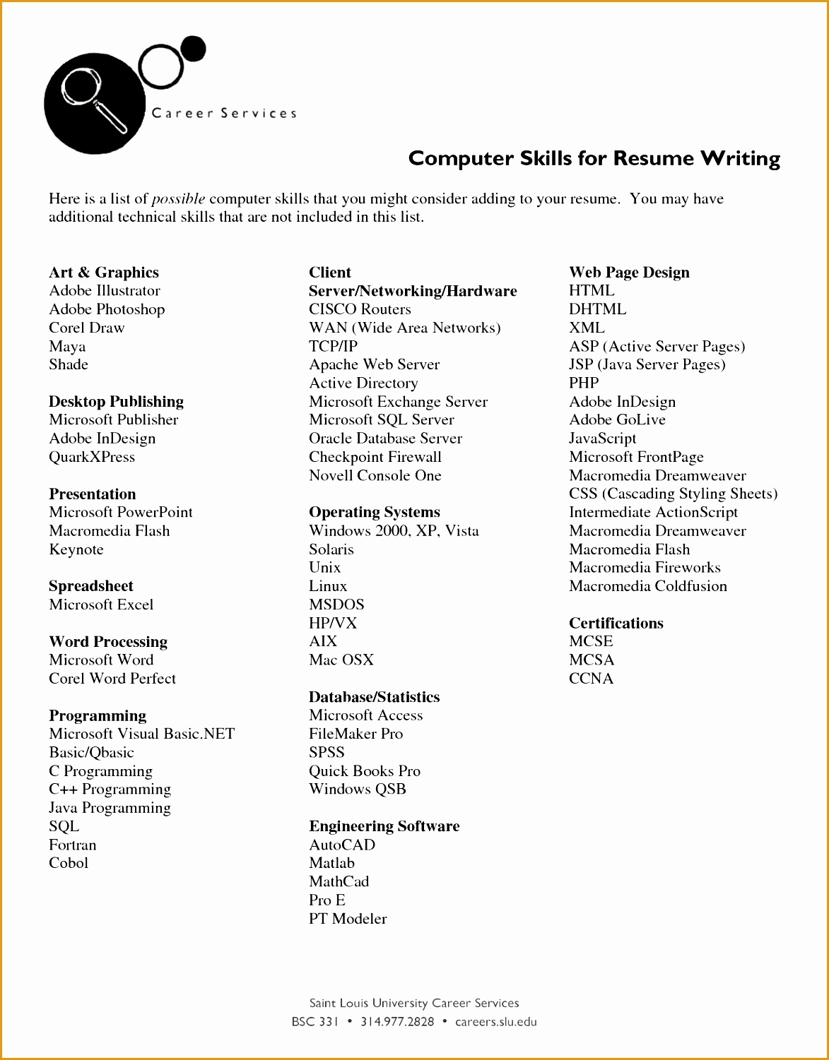 list of skills for resume15011173