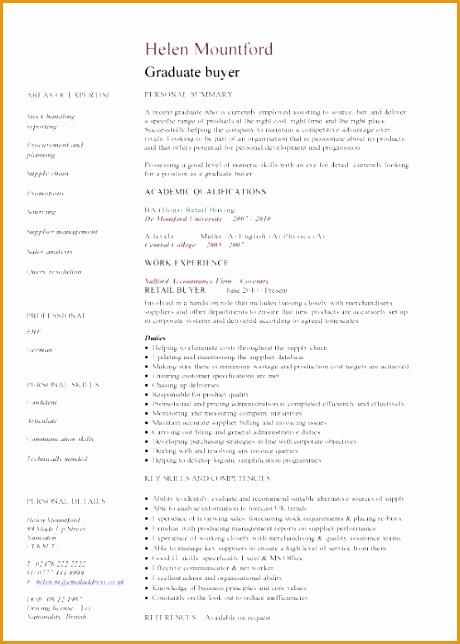 graduate cv template 270644460