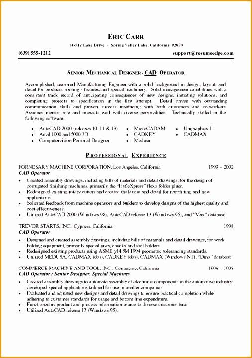 mechanical designer resume720506