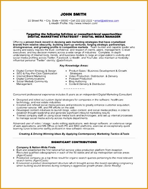 digital media manager resume sample617483