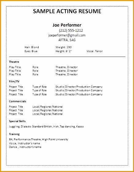 7 musical theatre resume examples free samples examples format resume curruculum vitae. Black Bedroom Furniture Sets. Home Design Ideas