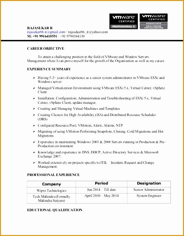 rajasekar resumevmware administrators751586
