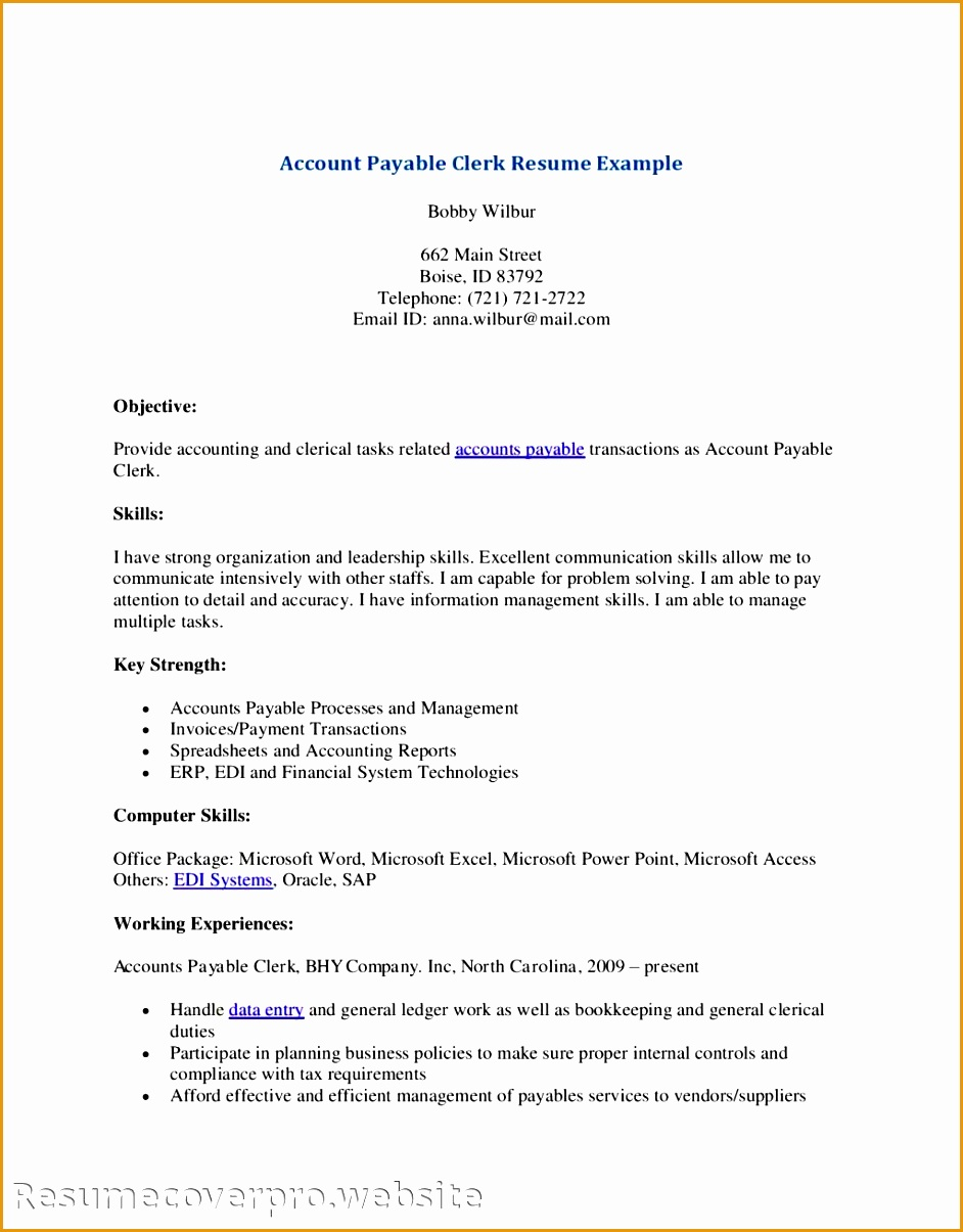 9 Payable Resume Templates Free Samples Examples
