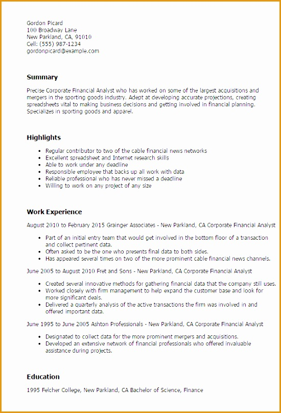 corporate financial analyst808550