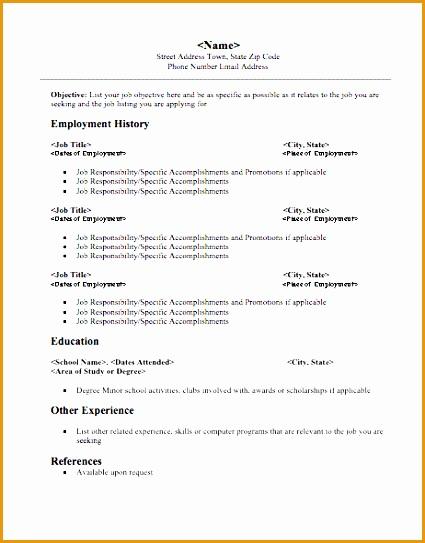 resume templates photo resume template free sample543425
