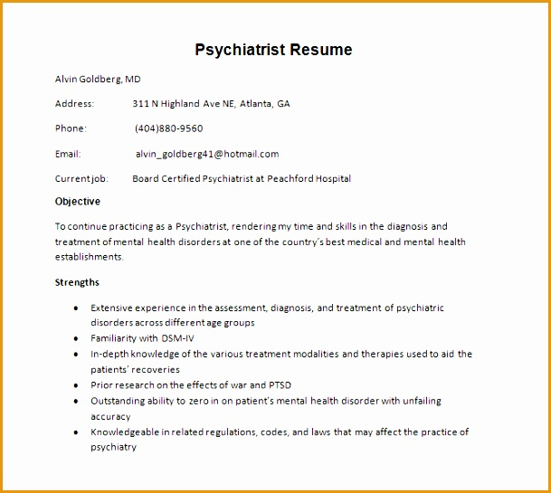 doctor resume template free sample example format545609