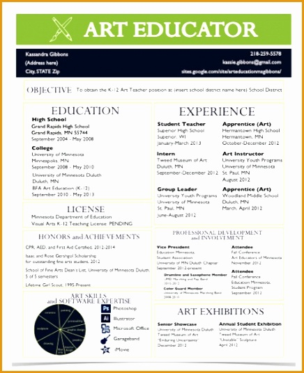 a resume for the modern art teacher536436