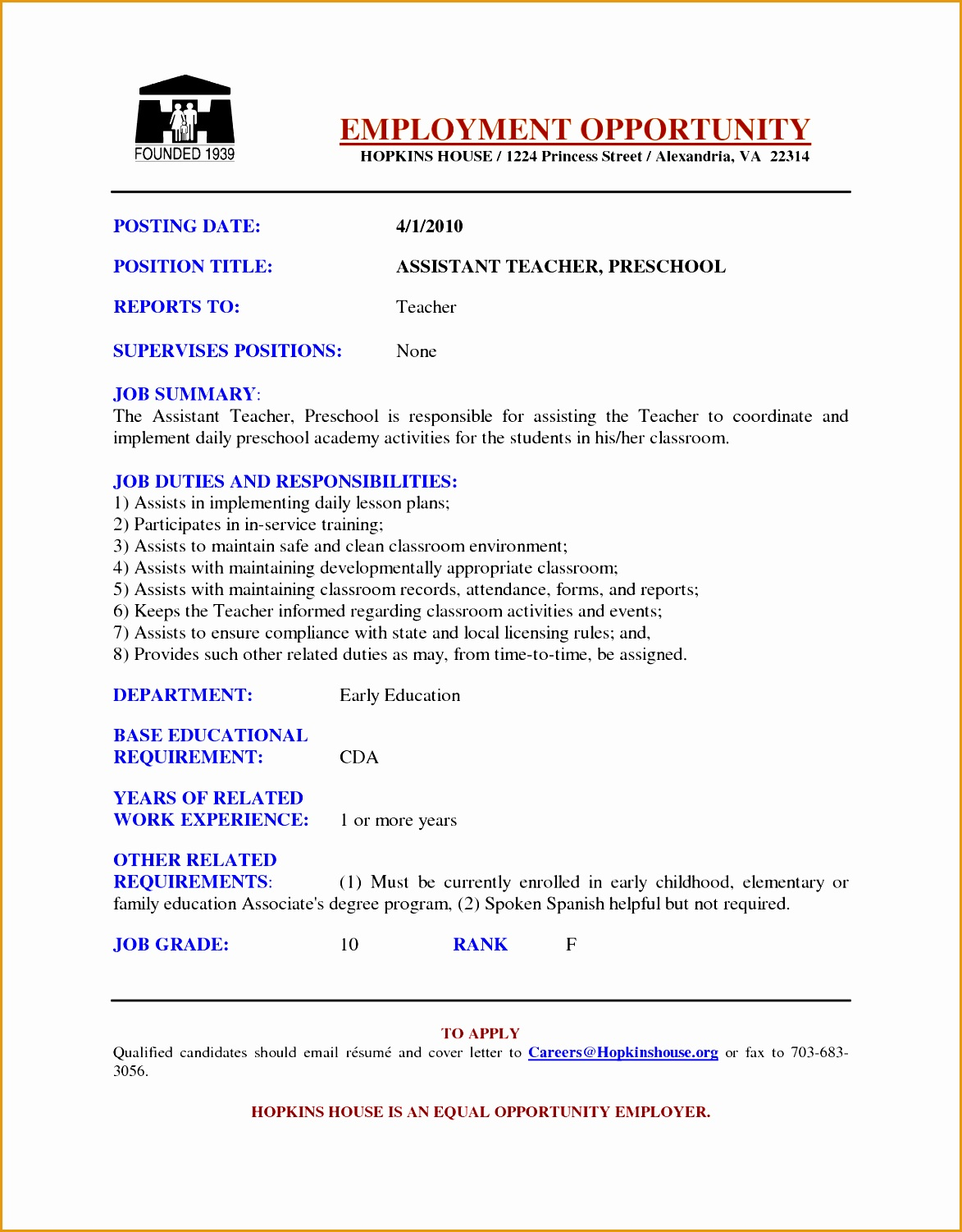 teaching resume template15011173