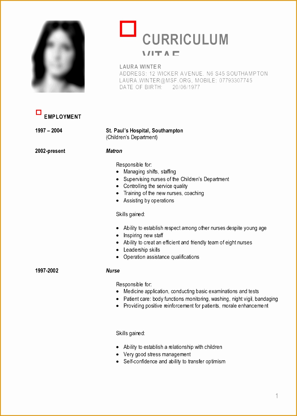 sample curriculum vitae logistics manager with sample list skills14561040