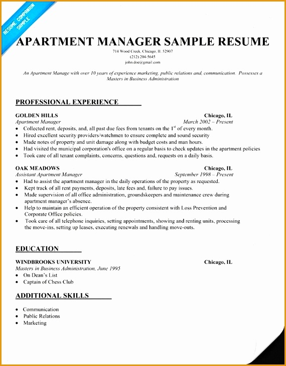 assistant property manager resume template728570