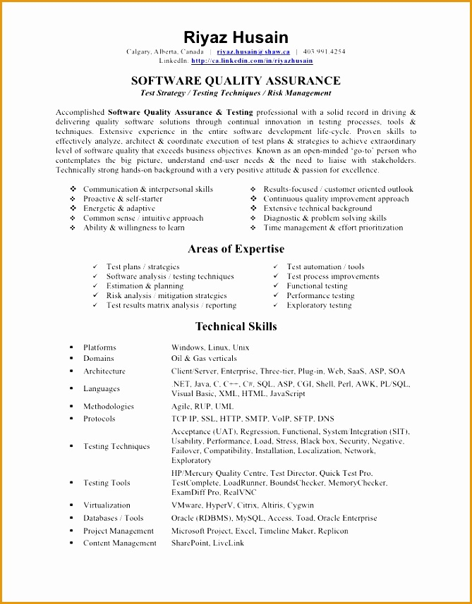 quality assurance tester resume857669