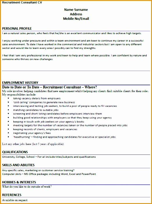 7 Recruitment Consultant Resume Sample Free Samples