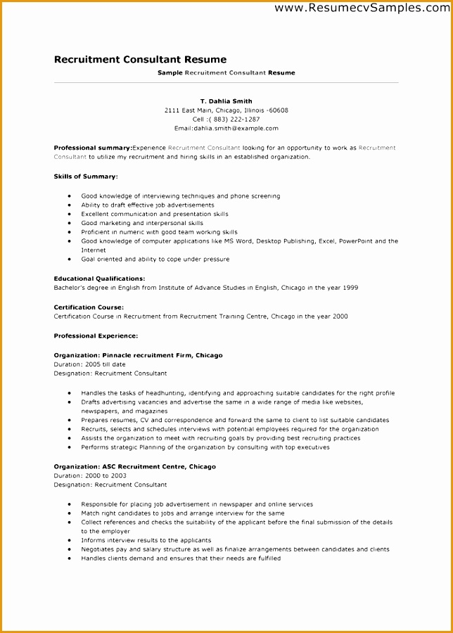 7 recruitment consultant resume sample