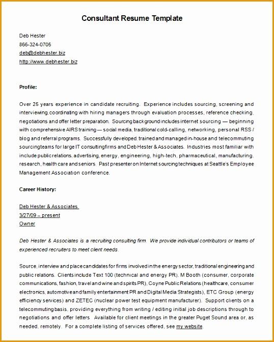 7 recruitment consultant resume sample