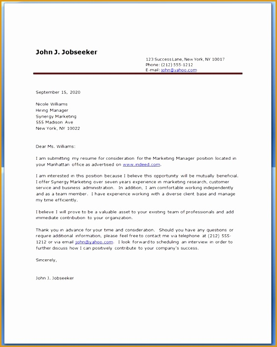 cover letter resume examples708564
