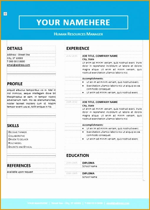 jordaan clean resume template712509