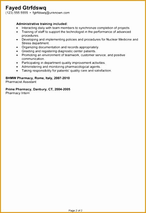 bination resume example nuclear medicine technologist701480