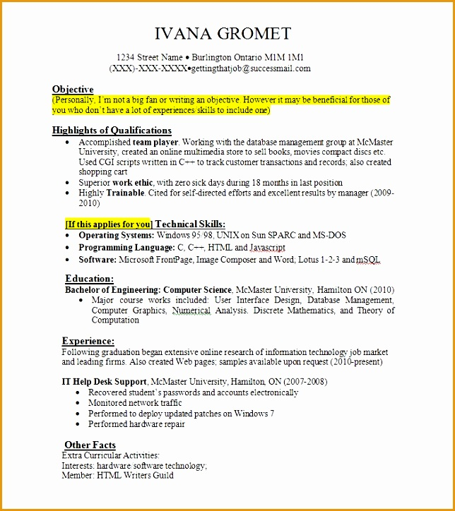 work experience resume724644