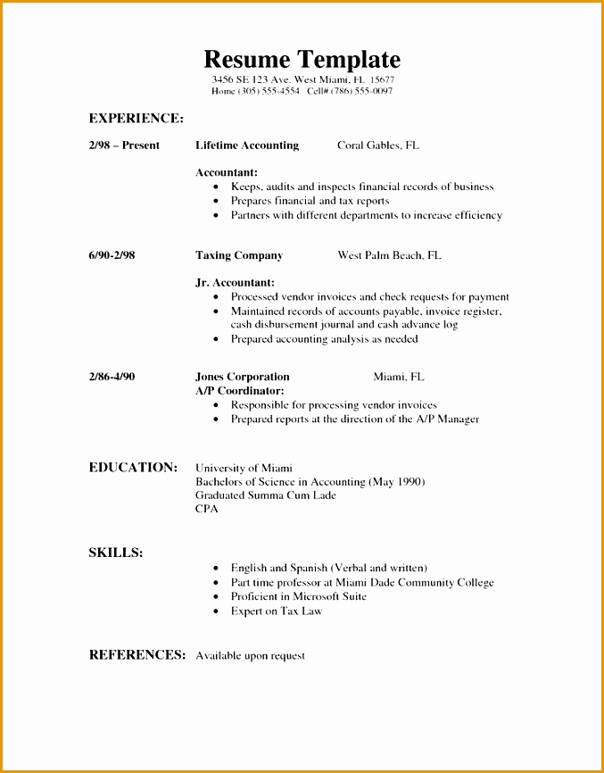 professional resume format866677