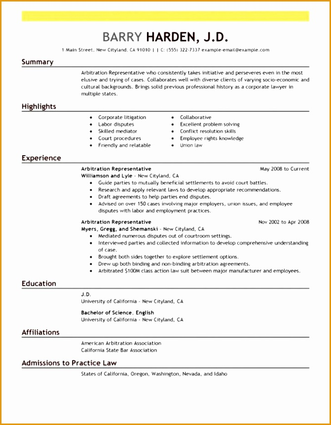 most professional resume format photo857669