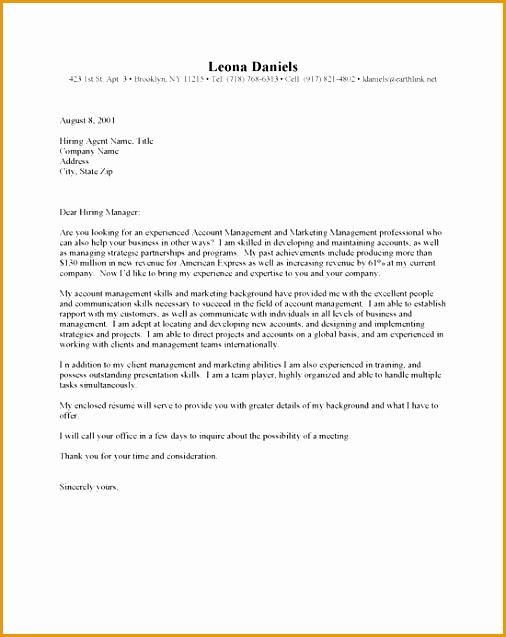account manager cover letter best637506