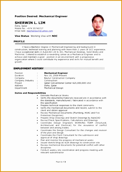 latest resume format for experienced mechanical engineer682487